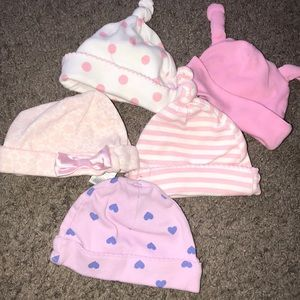 Baby Girls hats size 0-3 Months